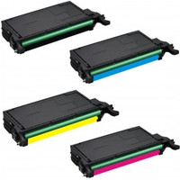 Toner Cartridges Compatible with Samsung CLP-770ND Series - Set of 4 Laser Toner Cartridges: 1 each of Black, Cyan, Yellow, Magenta