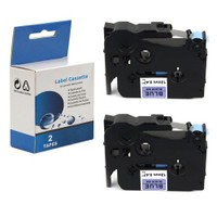 "Brother TZ-541/TZe-541 Black on Blue 18mm 3/4"" Label Tape"