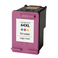 Remanufactured HP N9J91AN 64XL High-Yield Tri-Color Ink Cartridge