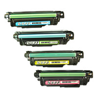 Compatible HP 507A Toner Cartridges Value Pack (CE400A CE401A CE402A CE403A)