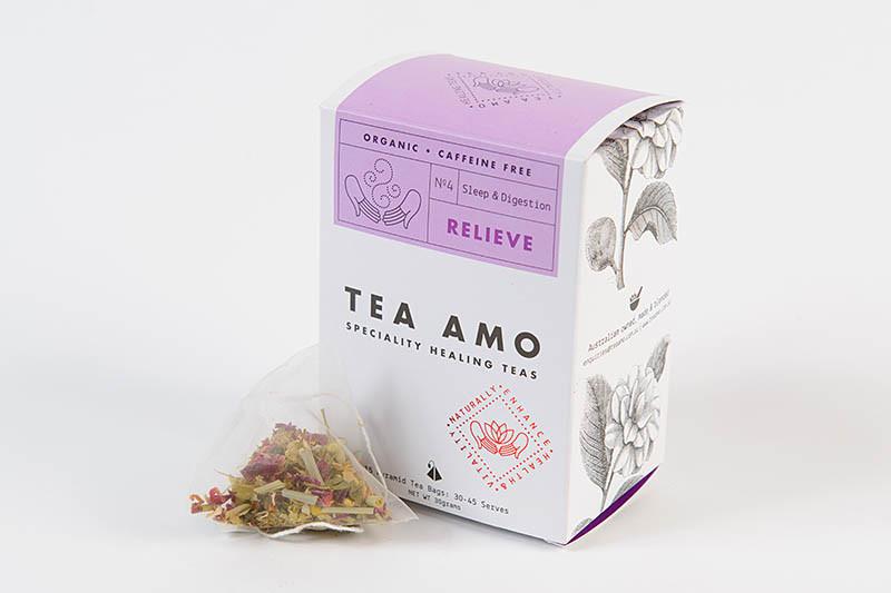 Relieve-Digestion & Sleep  15 Organic Herbal Pyramid Tea Bags