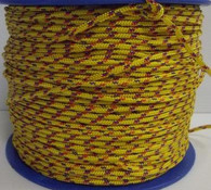 Rope 4mm 16 Plait Dinghy Braid - Yellow with fleck (per metre)