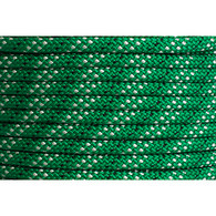 Rope 8mm Double Braid Polyester - Green with fleck (per metre)