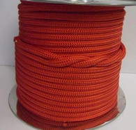Rope 6mm double braid - solid red (per metre)