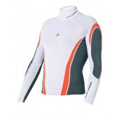 Magic Marine Energy Rash Vest - White LS Mens
