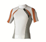 Magic Marine Energy Rash Vest - White SS Mens