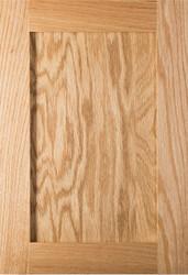 Unfinished Red Oak Shaker Door