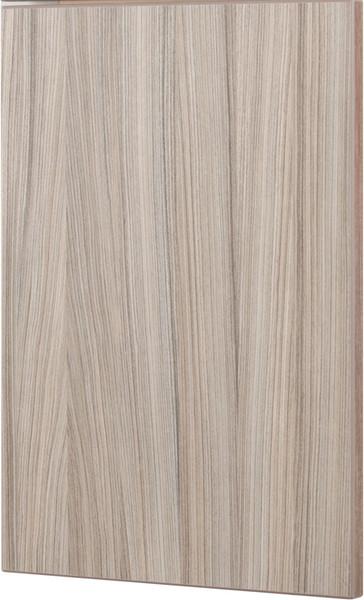 Sandalwood Medina Laminate Cabinet Door, vertical wood grain