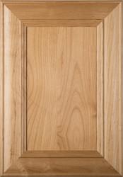 """Belmont"" Superior Alder Flat Panel Cabinet Door in Clear Finish"