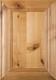"""Belmont"" Rustic Alder Flat Panel Cabinet Door in  Clear Finish"