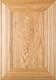 """""""Belmont"""" Red Oak Flat Panel Cabinet Door in Clear Finish"""