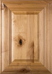 """Belmont"" Rustic Alder Raised Panel Cabinet Door in  Clear Finish"