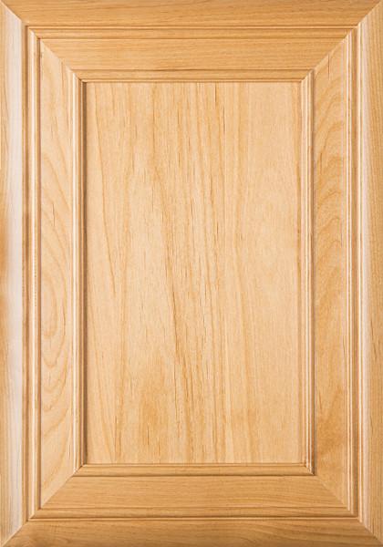 """Arden"" Superior Alder FLAT Panel Cabinet Door in Clear Finish"