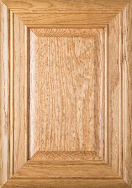 """Arden"" Red Oak Raised Panel Cabinet Door in Clear Finish"