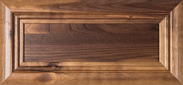 """""""Arden"""" Walnut FLAT Panel Drawer Front"""