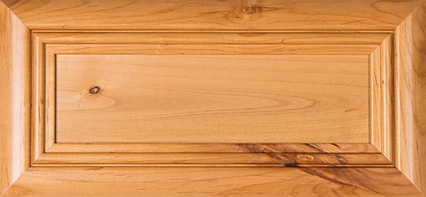 """""""Arden"""" Rustic Alder FLAT Panel Drawer Front"""