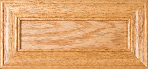 """Belmont"" Unfinished Oak Flat Panel Drawer Front"
