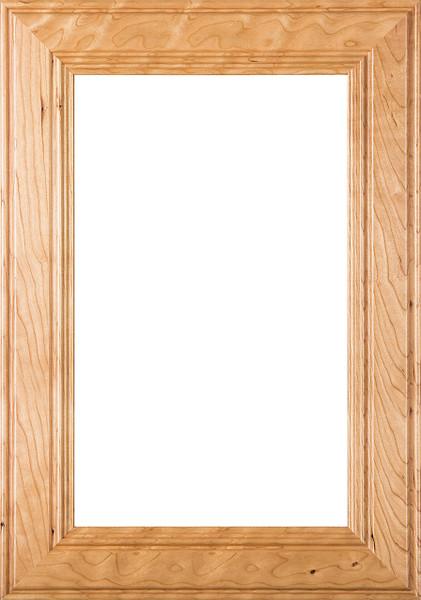 """2.38 """"Linville"""" Cherry Glass Panel Cabinet Door"""
