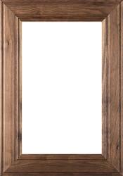 """2.38 """"Linville"""" Walnut Glass Panel Cabinet Door"""