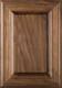 """Arden"" 2.38 Walnut Raised Panel Cabinet Door In Clear Finish"