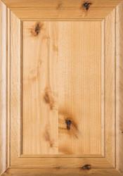 """""""Arden"""" 2.38 Rustic Alder Flat Panel Cabinet Door in Clear Finish"""