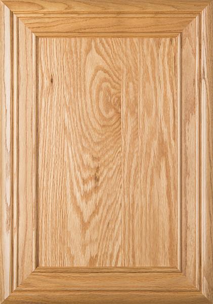 """Arden"" 2.38 Red Oak Flat Panel Cabinet Door In Clear Finish"