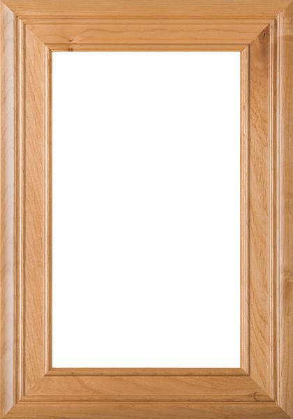"""Arden"" 2.38 Superior Alder Glass Panel Cabinet Door in Clear Finish"