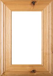 """Arden"" Rustic Alder Glass Panel Cabinet Door in Clear Finish"