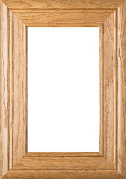 """""""Arden"""" Red Oak Glass Panel Cabinet Door"""