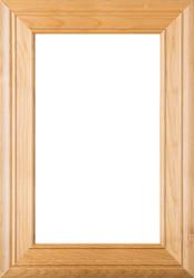 """""""Arden"""" 2.38 Cherry Glass Panel Cabinet Door"""