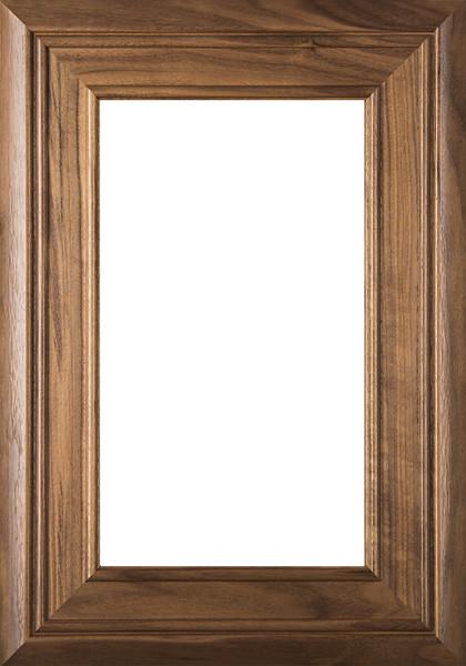 """picture of """"Arden"""" Walnut Glass Panel Cabinet Door"""