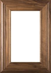 """Arden"" Walnut Glass Panel Cabinet Door in Clear Finish"