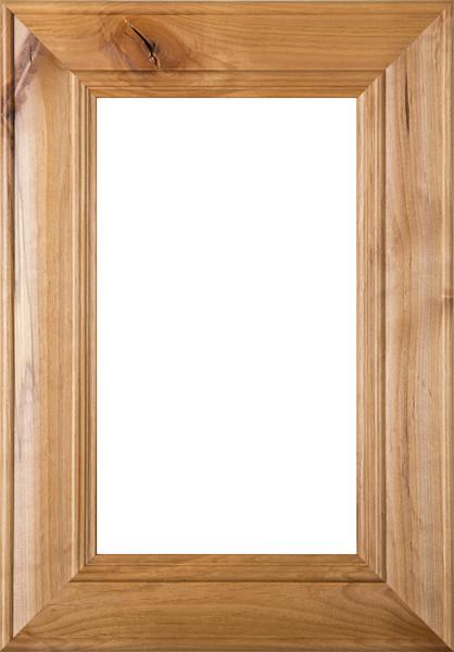 """Belmont"" Rustic Alder Glass Panel Cabinet Door in Clear Finish"
