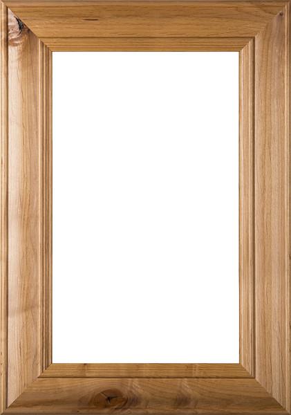 """""""Belmont"""" 2.38 Rustic Alder Glass Panel Cabinet Door"""