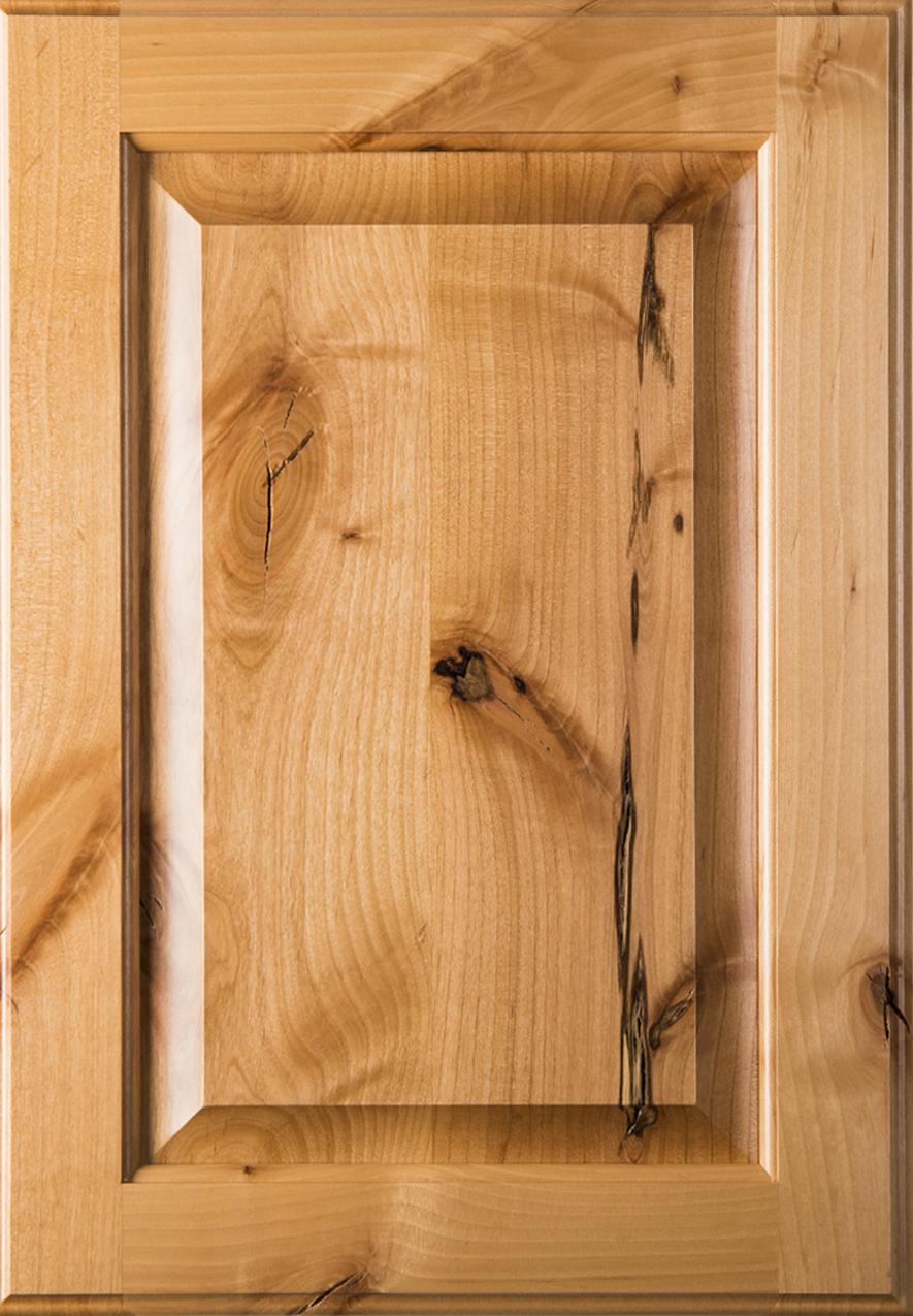 Square Raised Panel Rustic Alder Cabinet Door I Hickory Nc