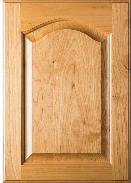 Unfinished Cathedral Arch Raised Panel Superior Alder Cabinet Door