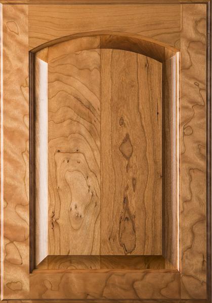 Unfinished Eyebrow Raised Panel Cherry Cabinet Door