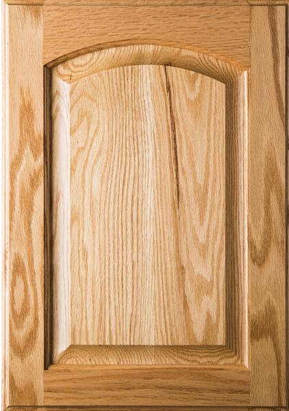Unfinished  Eyebrow Raised Panel Red Oak Cabinet Door