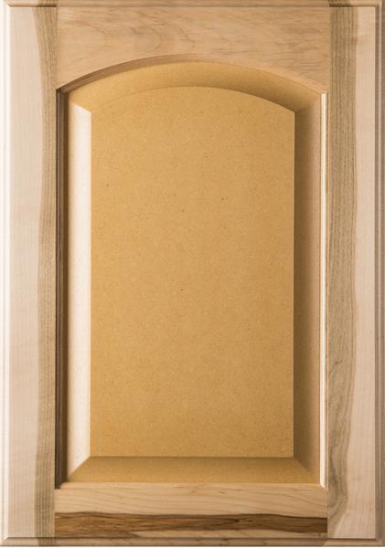 Unfinished  Eyebrow Maple Raised MDF Panel Cabinet Door
