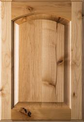 Unfinished Eyebrow Raised Panel Rustic Alder Cabinet Door