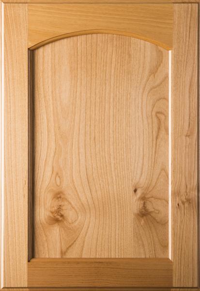 Unfinished  Eyebrow FLAT Panel Cherry Cabinet Door