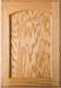 Unfinished Eyebrow FLAT Panel  Red Oak Cabinet Door