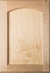 Unfinished Eyebrow FLAT Panel  Superior Alder Cabinet Door