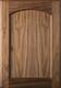 Unfinished Eyebrow FLAT Panel Walnut Cabinet Door
