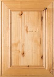 """""""Linville"""" Rustic Alder FLAT Panel Cabinet Door Image"""