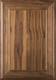 """Arden"" 2.38 Walnut FLAT Panel Cabinet Door In Clear Finish"