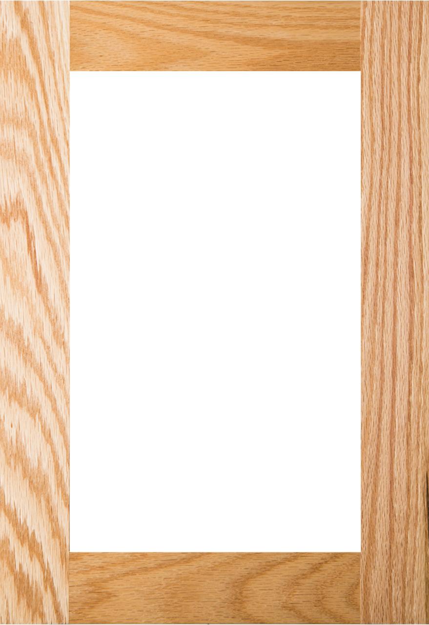 Shaker Glass Panel Red Oak Cabinet Door Unfinished
