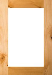Unfinished Rustic Alder Shaker GLASS Panel Door