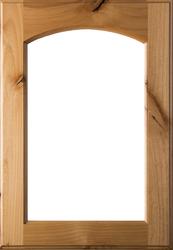 Unfinished Eyebrow Arch Glass Rustic Alder Door