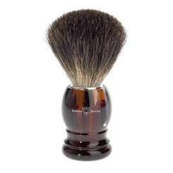 Edwin Jagger Faux Tortoise Black Best Badger Brush Classic Round